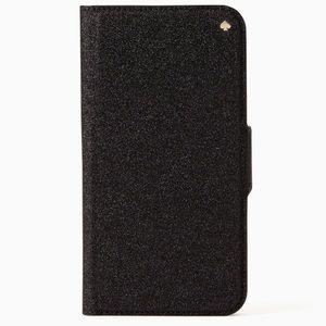 Kate Spade glitter wrap iphone x/xs folio case